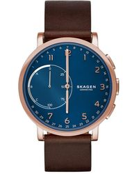 Skagen - Hagen Leather Hybrid Smartwatch - Lyst