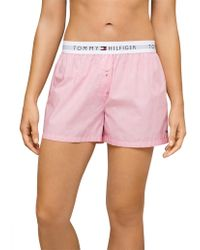 Tommy Hilfiger - Cotton Iconic Woven Boxer End On End - Lyst