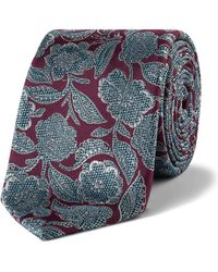 Ted Baker - Silk Detailed Floral 7cm Tie - Lyst