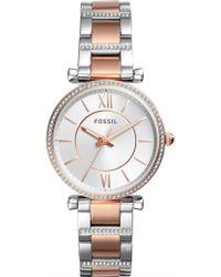 Fossil - Carlie 2-tone Watch - Lyst