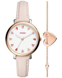 Fossil - Jacqueline Rose Gold Watch - Lyst