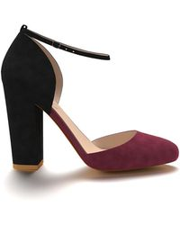 Shoes Of Prey - Round Toe Double D'orsay With Ankle Stap - Lyst