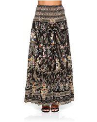 Camilla - Sheer Tiered Circle Skirt - Lyst