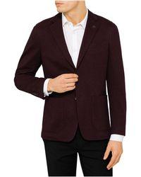 Canali - 2b Sb Sv Cotton Jersey Diag Twill Jacket - Lyst