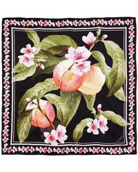 Ted Baker - Peach Blossom Square Scarf - Lyst