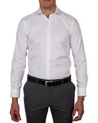 Geoffrey Beene - Tottenburg Twill Body Fit Shirt - Lyst