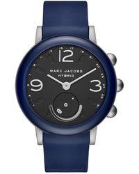 Marc By Marc Jacobs - Riley Blue Hybrid Smartwatch - Lyst