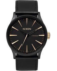 Nixon Sentry Leather - Black