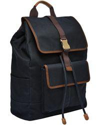 Fossil Buckner Rucksack Bag Midnight Navy - Blue