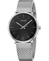 Calvin Klein - Ck High Noon Polished Ss Case Black Dial 40mm - Lyst