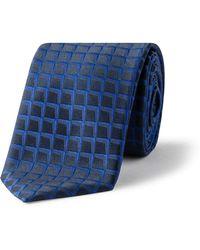BOSS - 6cm Text Diamond Jaq Silk Tie - Lyst