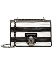 Balmain - Flap Bag Bbox 20 Stripes-pleated Smooth Leather - Lyst