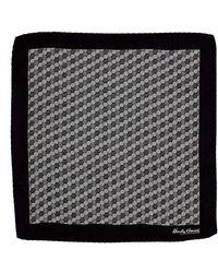 Hardy Amies - Black Hexagon Geo Pocket Square - Lyst