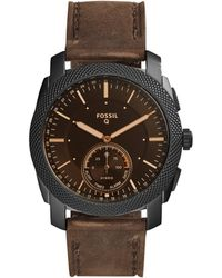 Fossil - Q Machine Dark Brown Hybrid Smartwatch - Lyst