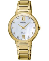 Seiko - Solar Crystal Set Dress Watch - Lyst