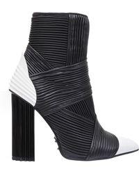 Balmain - Irina Pleated Boot Bw - Lyst