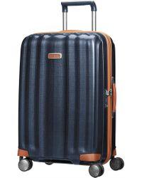 Samsonite Lite Cube Deluxe 55cm Small Suitcase - Blue