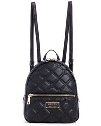 Guess Manhattan Large Backpack in Black Lyst