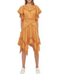Lover - Prairie Mini Dress - Lyst