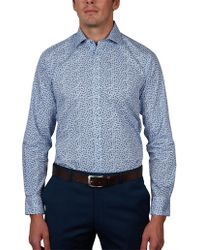 Geoffrey Beene - Steamboat Stripe Print Slim Fit Shirt - Lyst