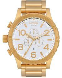 Nixon 51-30 Chrono Watch - Metallic