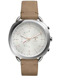 Fossil - Accomplice Brown Hybrid - Lyst