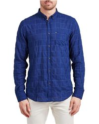The Academy Brand - Easton Window Check Shirt - Lyst