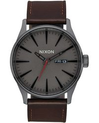 Nixon Sentry Leather Watch - Multicolour