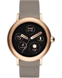 Marc Jacobs - Riley Beige Smartwatch - Lyst