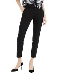 J.Crew Cameron Pant In Stretch Crepe - Black