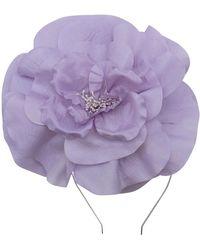 Morgan Taylor Large Silk Flower On Headband - Purple