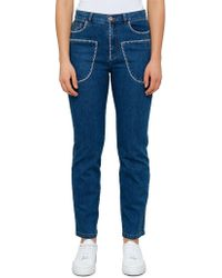 See By Chloé Embroidered Front Pocket Jeans