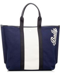 Bally - Canvas Tote Md - Lyst