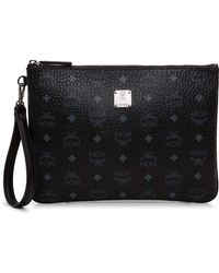MCM - Stark Top Zip Med Pouch For Ipad W/, 001 - Lyst