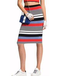 Tommy Hilfiger - Pilaux Graphic Pencil Skirt - Lyst