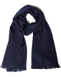 Emporio Armani - Silk Foulard With Woven Print - Lyst