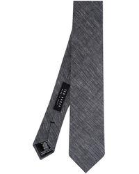 Ted Baker Plain Linen 7cm Tie - Purple