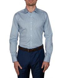 Geoffrey Beene - Hive Print Body Fit Shirt - Lyst