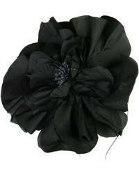 Morgan Taylor Silk Large Flower - Black