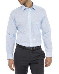 Geoffrey Beene - Renwick Print Gingham Stretch Collar Regular Fit Shirt - Lyst