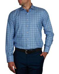 Geoffrey Beene | Le Bernadin Check Slim Fit Shirt | Lyst