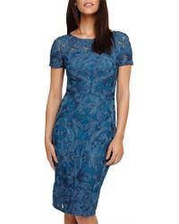 Phase Eight Indra Tapework Dress - Blue