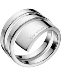 Calvin Klein - Beyond Polished Stainless Steel Ring - Lyst