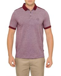 Armani Exchange - Colour Block Logo Pique Polo - Lyst