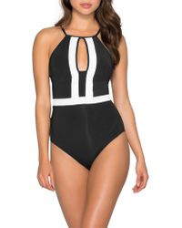 Jets by Jessika Allen - Classique High Neck One Piece - Lyst