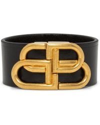 Balenciaga Bb Buckled Leather Belt - Black