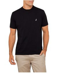Nautica Short Sleeve Solid Logo Tee - Black