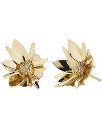 Meadowlark Wildflower Earrings - Metallic