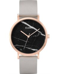 Cluse - La Roche Rose Gold Black Marble/grey - Lyst