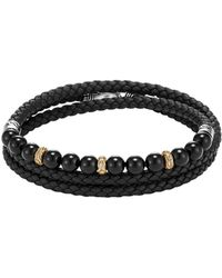 John Hardy - Classic Chain Wrap Bracelet In Silver And 18k Gold With Gems - Lyst